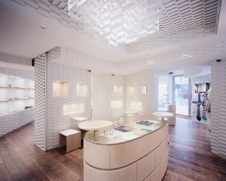 shang xia paris store with ceramic panels