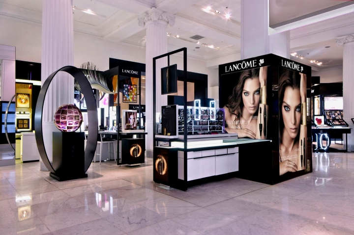 Lancome stand at Selfridges by Elemental Design