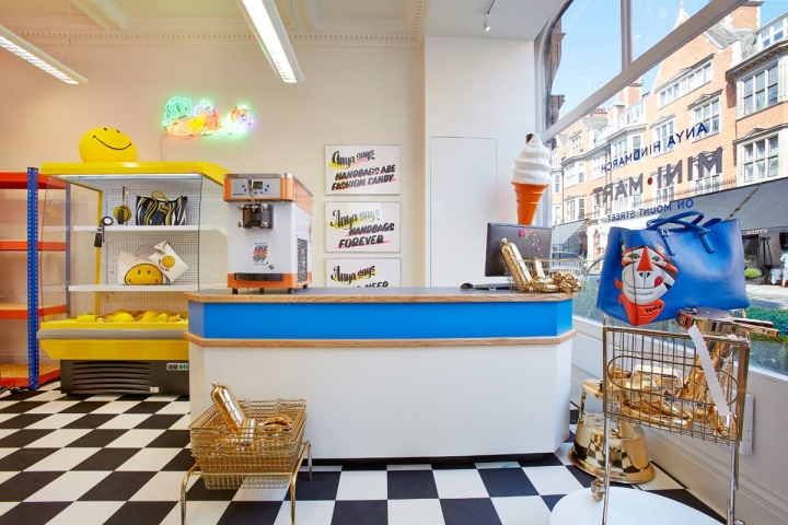 Anya Hindmarch Mini-Mart London pop-up shop