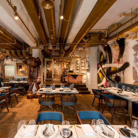 Bibo gallery restaurant in Hong Kong