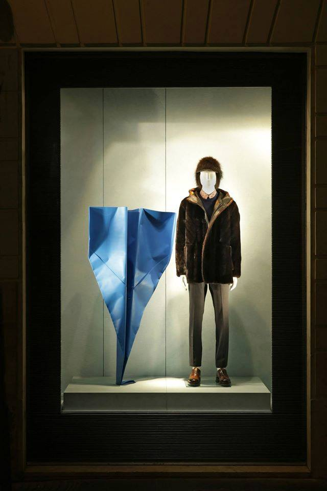 Fendi displays- paper planes