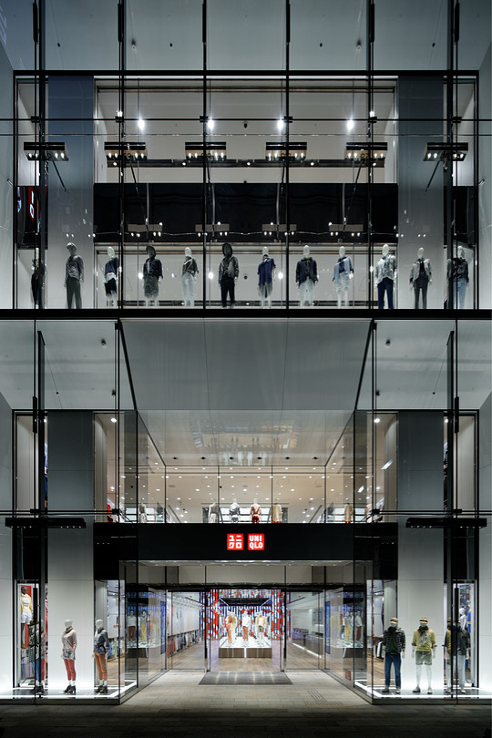 UNIQLO  flagship store Ginza Tokyo by Wonderwall inc