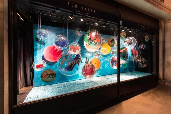 TedBaker windows display, Regent Street by Millington Associates