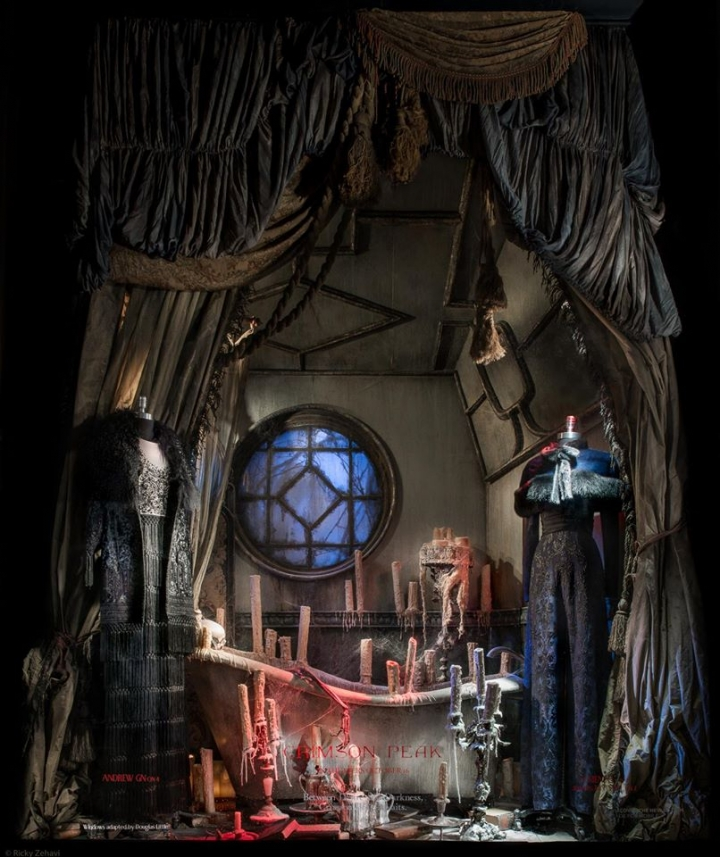 Bergdorf Goodman windows display 2015 - Crimson Peak