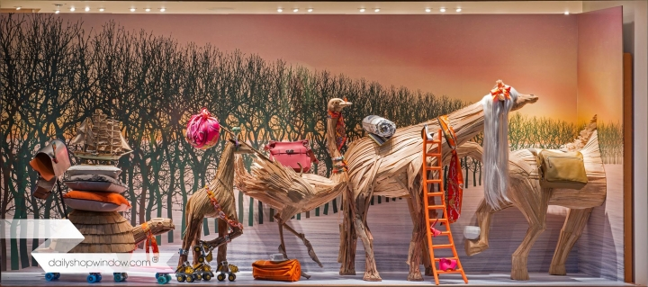 Hermes Christmas windows 2015