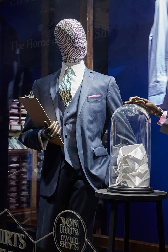 Charles Tyrwhitt window display concept- Shirts Lab by Harlequin Design