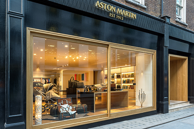 Aston Martin first lifestyle boutique in London