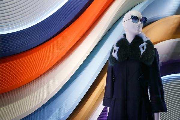 Fendi - Gravitational Waves window display