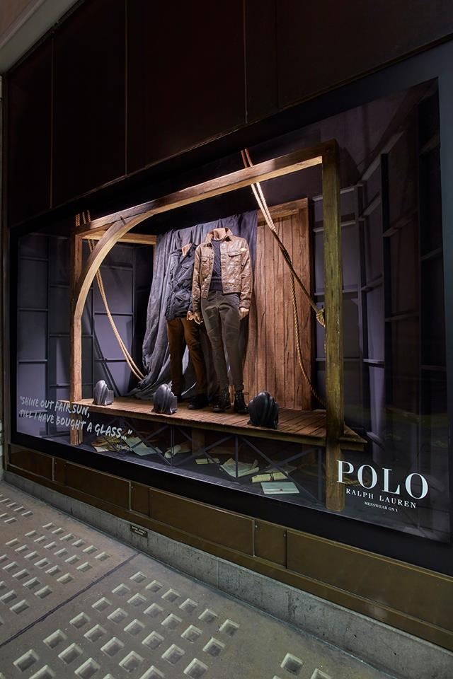Ralph Lauren POLO window display by Harlequin Design