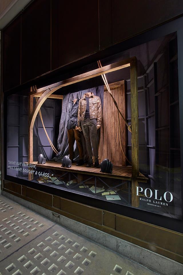 Ralph Lauren POLO window display by Harlequin Design