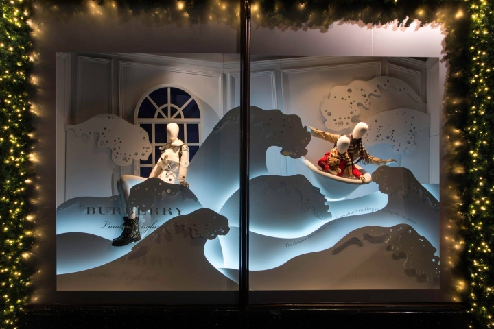 Harrods and Burberry 'A Very British Fairytale' christmas window display