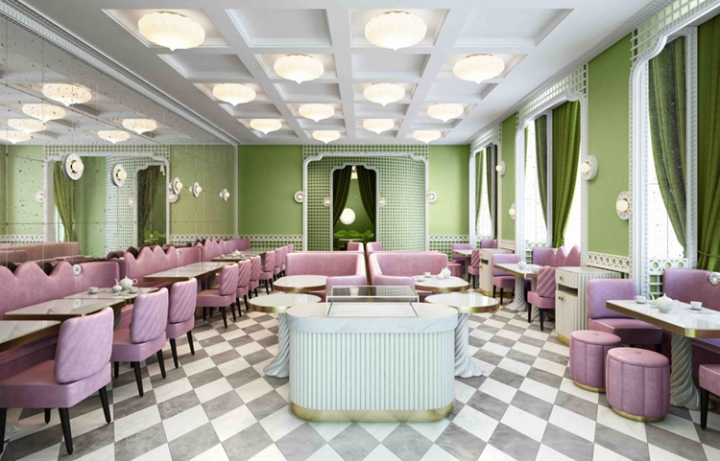 Ladurée french pastry latest shop by India Mahdavi