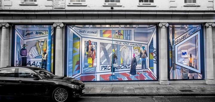 Pop Art window display for Fenwick by Harlequin Design