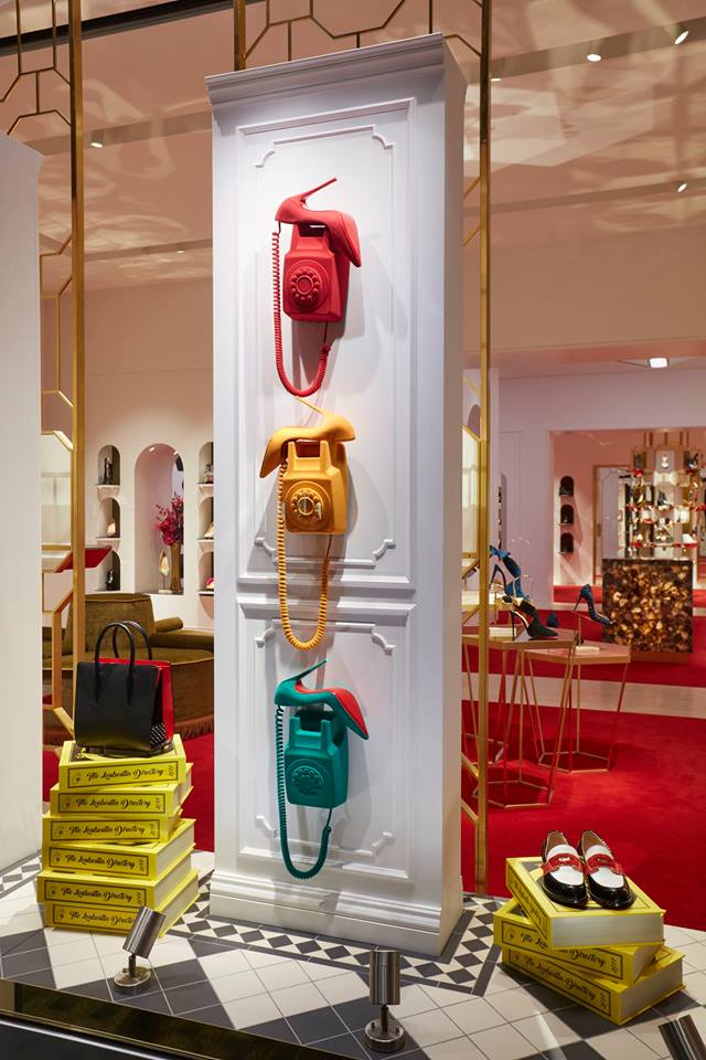 Christian Louboutin - Telephone Fall/Winter 2017 window display by studioxag