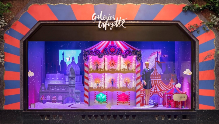 Galeries Lafayette Christmas window 2017