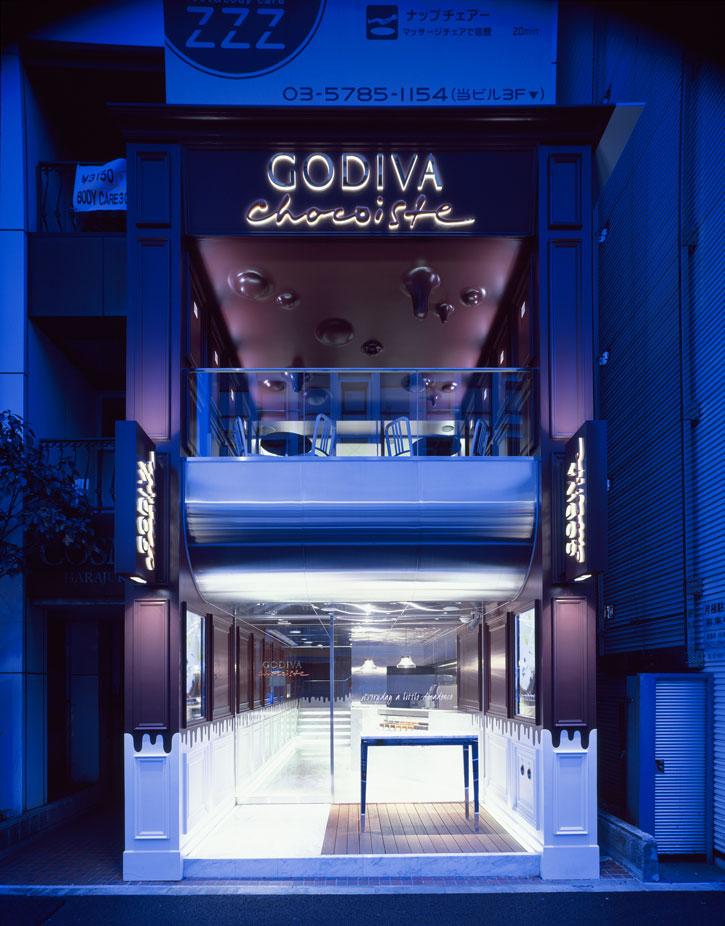 Godiva's Chocolate interior concept in Harajuku