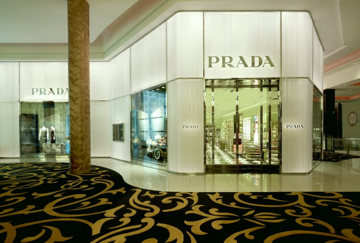 Prada retail design in Casablanca by architect ROBERTO BACIOCCHI